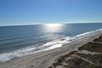 Beach/Ocean View at Ocean Towers in North Myrtle Beach
