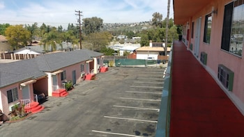 Aerial View at La Petite Rouge Motel in San Diego