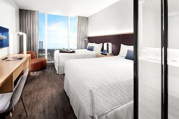 Guestroom at Universal's Aventura Hotel in Orlando