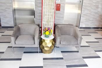 Lobby Sitting Area at Giorgio Hotel in Long Island City