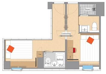 RED ROOF INN & SUITES OSAKA - NAMBA/NIPPOMBASHI Floor plan