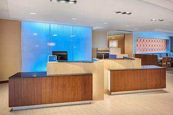 Lobby at Fairfield Inn & Suites by Marriott North Bergen in North Bergen