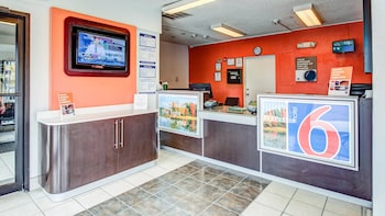 Lobby at Motel 6 Norfolk in Norfolk