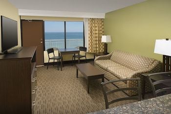 Living Area at Four Points By Sheraton Virginia Beach Oceanfront in Virginia Beach