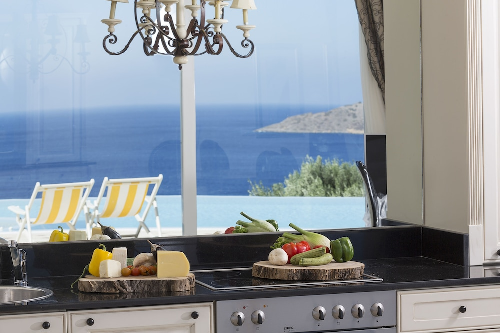 엘룬다 걸프 빌라 앤 스위트(Elounda Gulf Villas And Suites) Hotel Image 28 - In-Room Kitchen