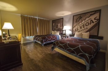Guestroom at Super 8 by Wyndham Las Vegas North Strip/Fremont St. Area in Las Vegas