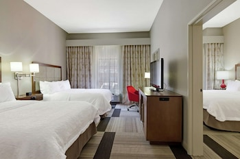 King Bed and Two Queen Bed Room, Refrigerator and Microwave