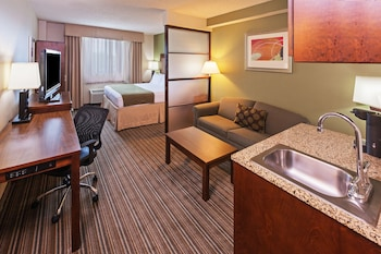 Guestroom at Holiday Inn Express Hotel & Suites Fort Worth Downtown in Fort Worth