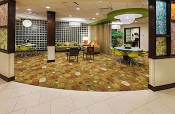 Lobby at Holiday Inn Express Hotel & Suites Fort Worth Downtown in Fort Worth