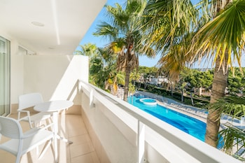 Family Room, Balcony, Pool View
