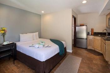 Suite, 1 Queen Bed, Kitchen
