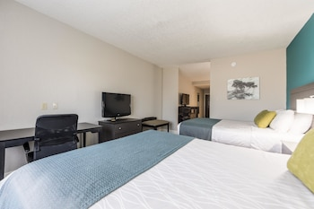 Suite, 2 Queen Beds, Non Smoking, Refrigerator & Microwave (Shower Only;with Sofabed)