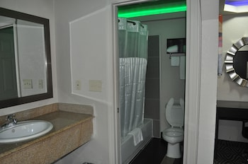 Bathroom at Downtown Suites Dallas in Dallas