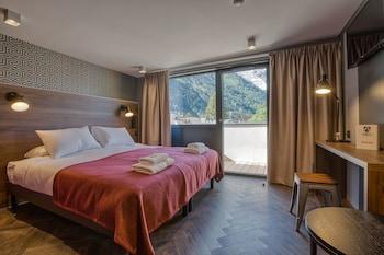Chambre Double ou twin - Summit Supérieure avec balcon et vue Mt.Blanc