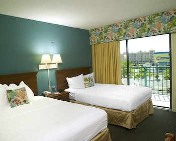Guestroom at Cayman Suites Hotel in Ocean City