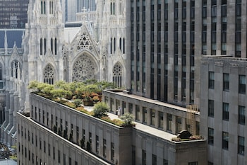 View from Hotel at Club Quarters Hotel, opposite Rockefeller Center in New York