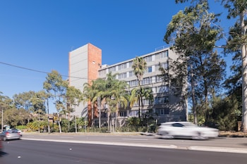 Hotel Front at Royal Pacific Hotel in Lane Cove North