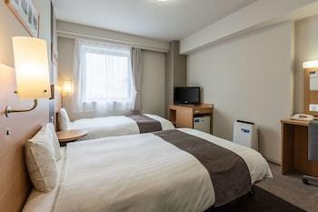 スタンダード ツインルーム シングルベッド 2 台 禁煙|コンフォート ホテル 秋田