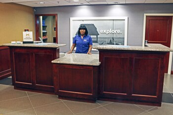 Reception at Hampton Inn & Suites Norfolk Airport in Norfolk