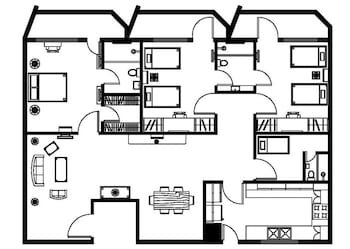 Copacabana Apartment Hotel Manila Floor plan