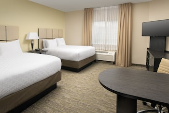 Guestroom at Candlewood Suites I-26 at Northwoods Mall in North Charleston
