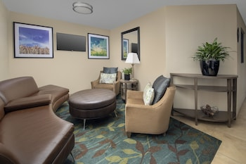 Lobby Sitting Area at Candlewood Suites I-26 at Northwoods Mall in North Charleston