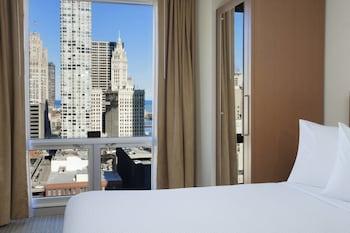 City Studio, 2 Double Beds, Non Smoking, City View (High Floor)