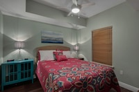 <p><strong>1 Queen Bed, 1 Twin Bunk Bed and 1 Double Sofa Bed</strong></p><p>732-sq-foot (66-sq-meter) individually decorated room, furnished balcony with partial ocean views</p><br/><p><b>Layout</b> - Bedroom, living room, and dining area</p><p><b>Internet</b> - Free WiFi </p><p><b>Entertainment</b> - Cable channels and DVD player </p><p><b>Food & Drink</b> - Kitchen with refrigerator, stovetop, microwave, and dishwasher</p><p><b>Bathroom</b> - 2 bathrooms, deep soaking bathtub </p><p><b>Practical</b> - Washer/dryer, queen sofa bed, and free local calls</p><p><b>Comfort</b> - Air conditioning</p><p>Non-Smoking</p><p>Room is accessed via exterior corridors </p>&nbsp;