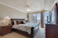 <p><strong>1 Queen Bed, 1 Double Bed, 2 Twin Beds and 1 Double Sofa Bed</strong></p><p>1588-sq-foot (143-sq-meter) individually decorated room, furnished balcony with partial ocean views</p><br/><p><b>Layout</b> - 3 bedrooms, living room, and dining area</p><p><b>Internet</b> - Free WiFi </p><p><b>Entertainment</b> - Cable channels and DVD player </p><p><b>Food & Drink</b> - Kitchen with refrigerator, stovetop, microwave, and dishwasher</p><p><b>Bathroom</b> - 2 bathrooms, deep soaking bathtub </p><p><b>Practical</b> - Washer/dryer, queen sofa bed, and free local calls</p><p><b>Comfort</b> - Air conditioning</p><p>Non-Smoking</p><p>Room is accessed via exterior corridors </p>&nbsp;