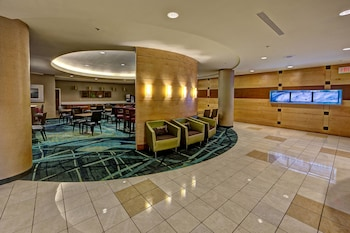 Lobby at SpringHill Suites Marriott Norfolk Old Dominion University in Norfolk
