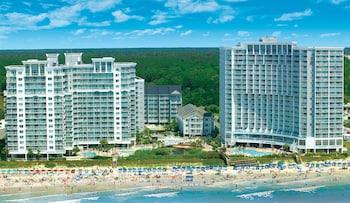 Aerial View at Sea Watch Resort in Myrtle Beach