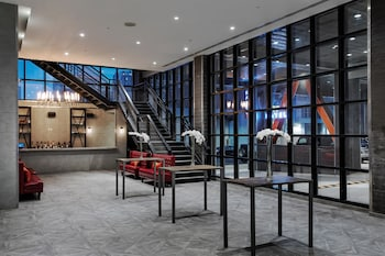 Lobby at Ravel Hotel Trademark Collection by Wyndham in Long Island City