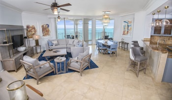 3 Bedroom Ocean Front Suite with a full kitchen and a Grand Salon