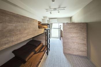 4人部屋 2段ベッド|17㎡|モンタン博多ホステル
