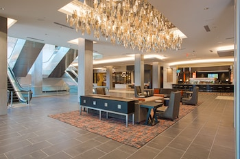 Lobby at The Hotel at the University of Maryland in College Park