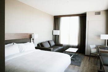Guestroom at AC Hotel by Marriott Minneapolis West End in St. Louis Park