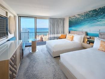 Deluxe Room, 2 Double Beds, Ocean View