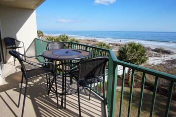 Balcony at Beach Club III by Elliott Beach Rentals in North Myrtle Beach