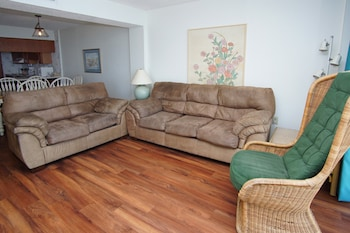 Living Room at Crescent Sands of Windy Hill by Elliott Beach Rentals in North Myrtle Beach