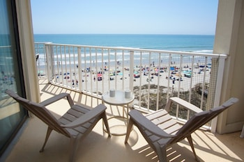 Balcony View at Crescent Sands of Windy Hill by Elliott Beach Rentals in North Myrtle Beach