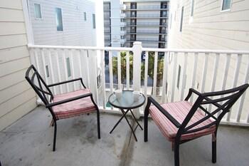 Balcony View at Ocean Breeze Luxury Villas by Elliott Beach Rentals in North Myrtle Beach