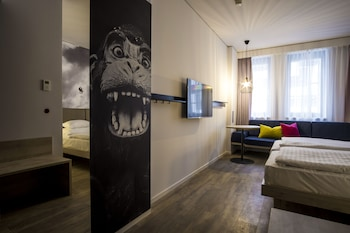 Panoramic Suite, 1 Double Bed with Sofa bed, Kitchen, City View