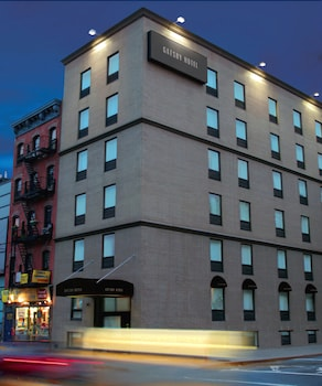 Hotel Front - Evening/Night at The Gatsby Hotel in New York