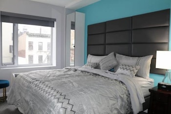 Guestroom at Canal Loft Hotel in New York