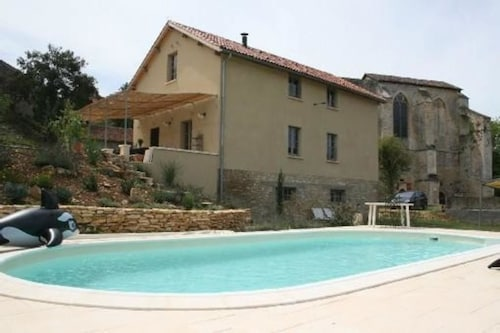 House With 4 Bedrooms in Léobard, With Private Pool and Furnished Gard, Lot