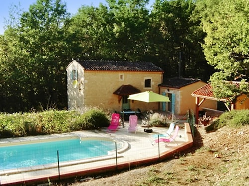 House With 3 Bedrooms in Grézels, With Private Pool and Furnished Gard, Lot