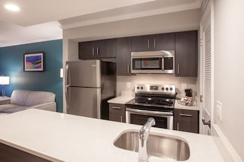 In-Room Kitchen at Hawthorn Suites by Wyndham Kissimmee Gateway in Kissimmee
