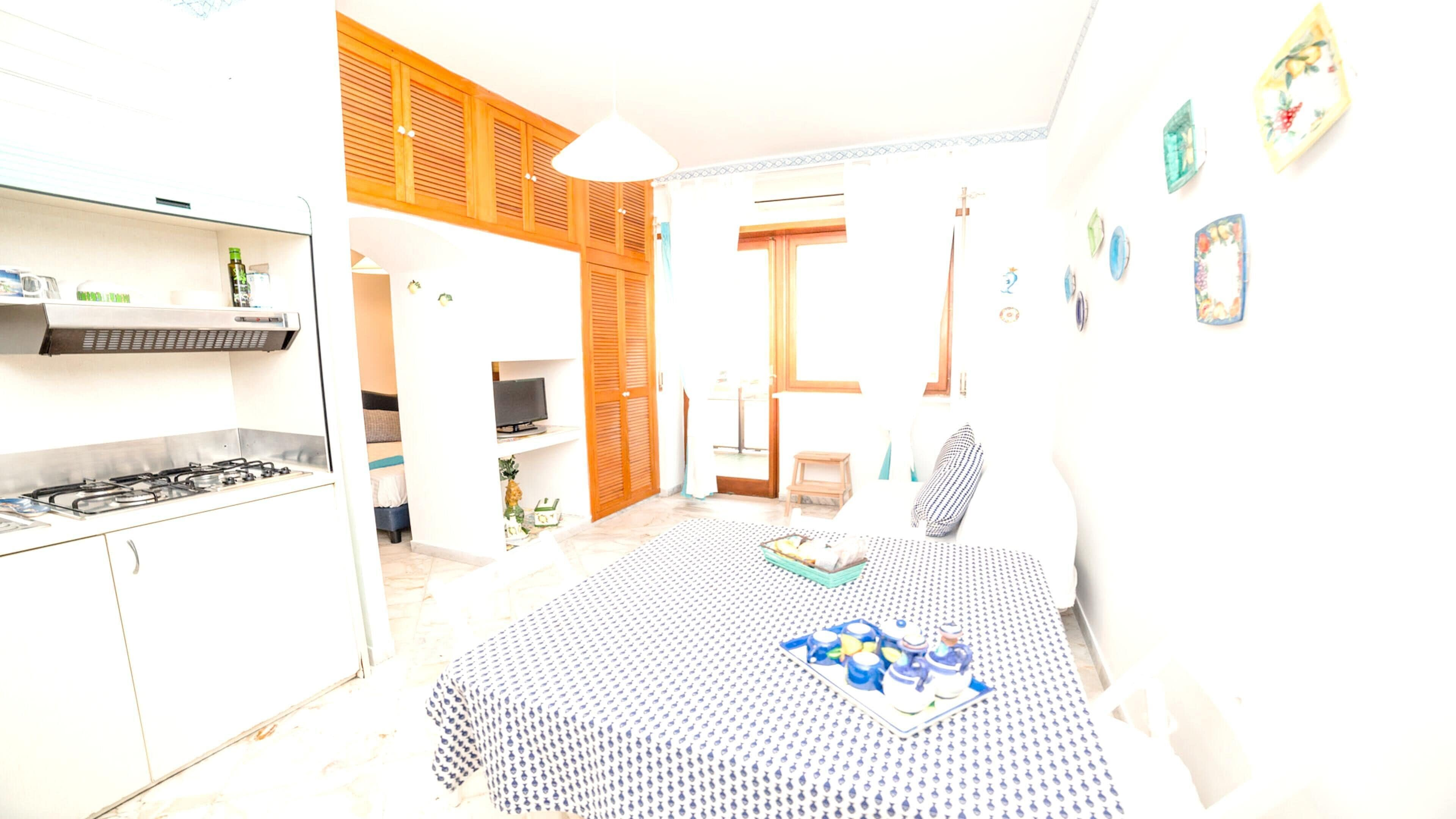 House With One Bedroom In Maiori,  With Wonderful City View And Balcony