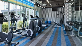 Gym at Aloft Dallas Arlington Entertainment District in Arlington