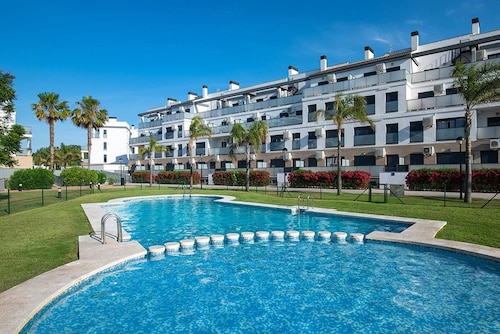 Apartment With one Bedroom in Oliva, With Wonderful sea View, Pool Acc, Valencia